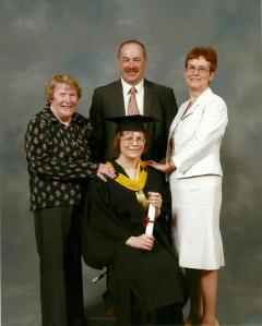 My family and I at graduation