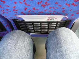 Coaches don't offer a lot of leg room - and for me would leave me in pain