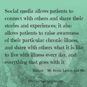 A fantastic benefit of using social media as a means of communicating about chronic illness