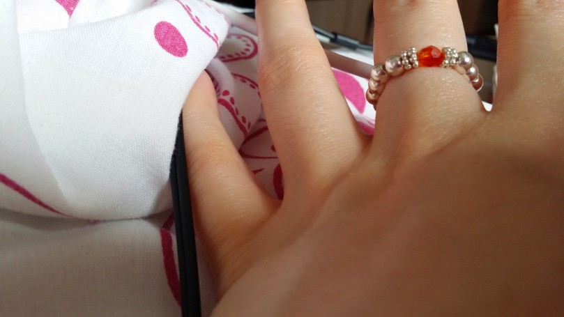 The gorgeous Annie Haak adjustable ring that I bought for myself