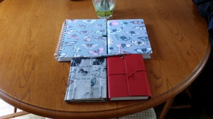 Some of the lovely notebooks and journals that know all my innermost thoughts...