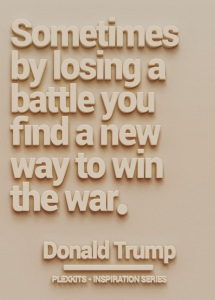 Perhaps by winning certain battles in our lives with chronic illness we can find ways around certain problems to win the battle another time