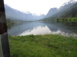 Another stunning view of the lake its glaciers in Olden
