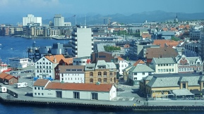 View from the ship after arriving in Stavanger